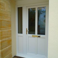 white uPVC Kommerling front door