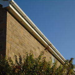 Fascia, soffit and guttering, including eaves trays and bird guards