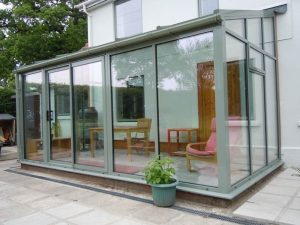 Smart Cement Grey Lean To Conservatory Allglass Glazing